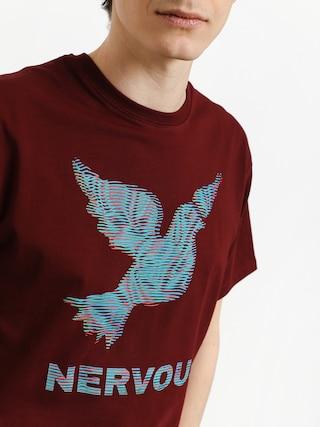 T-shirt Nervous Lcd (maroon)