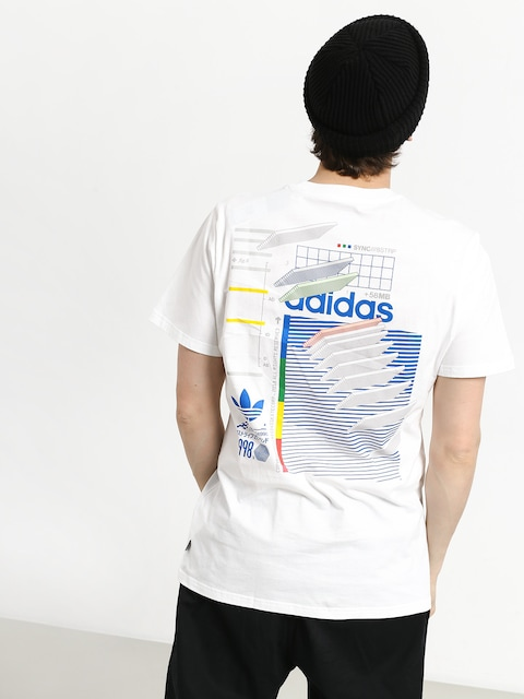 T-shirt adidas Dodson (white/blue/green/rea)
