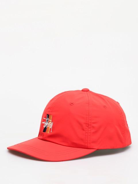 Czapka z daszkiem Stussy Bars Logo Low Pro (red)