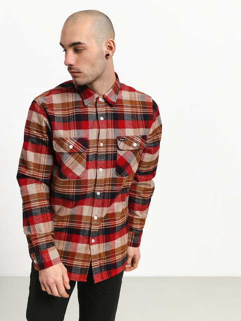 Koszula Brixton Bowery Flannel (red/copper)