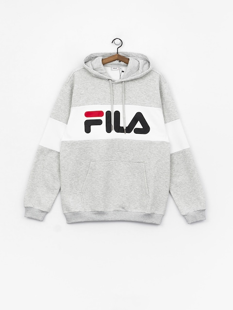 Bluza z kapturem Fila Night HD (light grey melange bros/bright white)