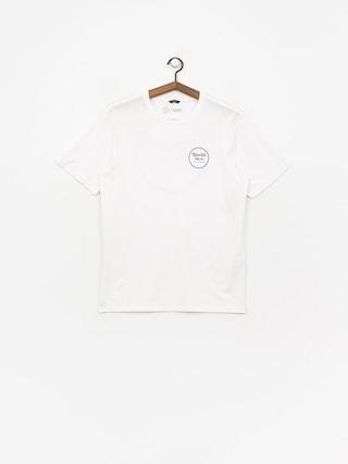T-shirt Brixton Wheeler II Prem (white/blue)