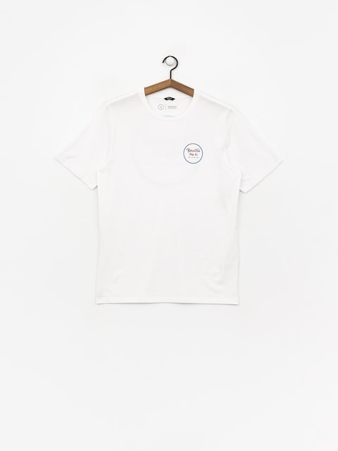 T-shirt Brixton Wheeler II Prem (white/blue)