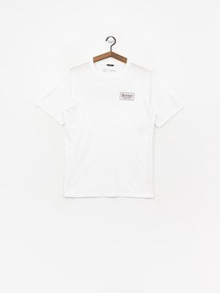T-shirt Brixton Palmer Prem (white/burgundy)