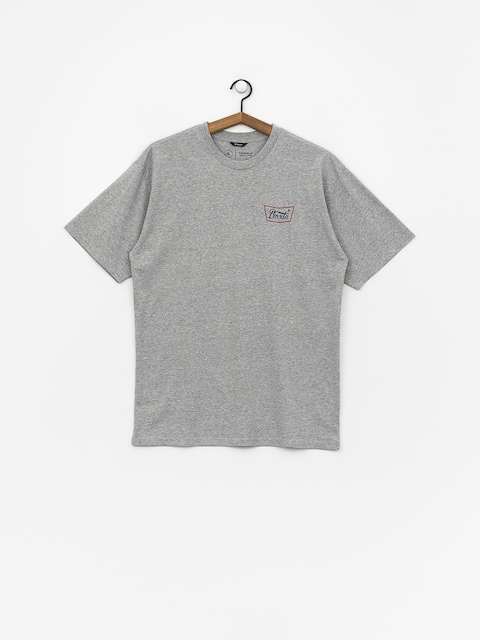 T-shirt Brixton Stith Stnd (heather grey/red/blue)