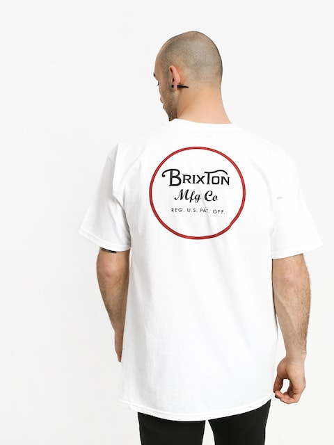 T-shirt Brixton Wheeler II Stnd (white/black/red)