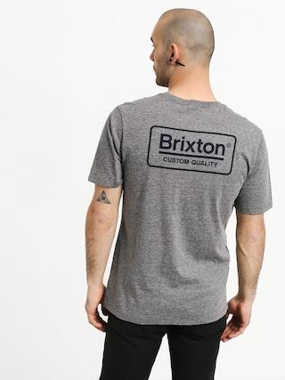 T-shirt Brixton Palmer Prem (heather grey/blue)