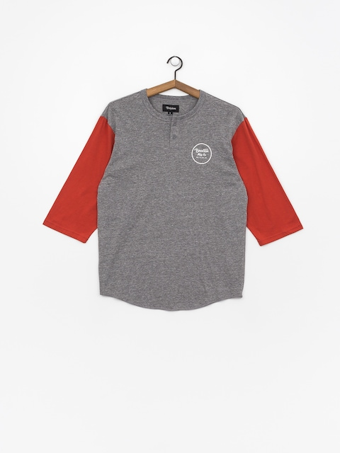 T-shirt Brixton Wheeler 3/4 Slv Hnly (heather grey/henna)