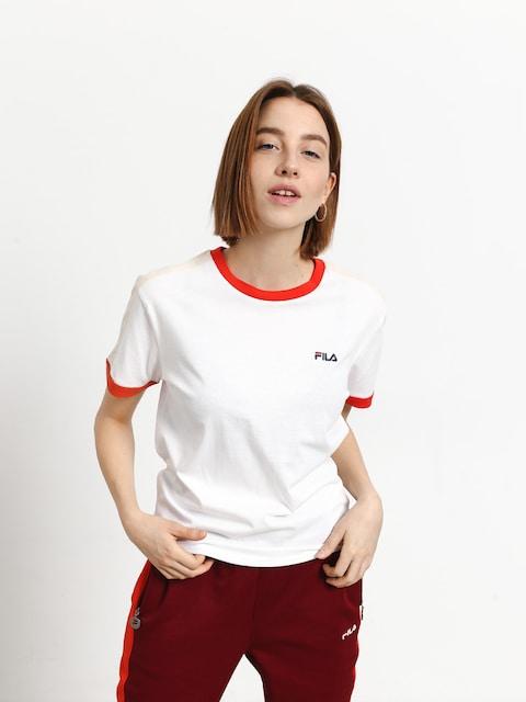 T-shirt Fila Noreen Wmn (bright white/fiesta/whitecap gray)