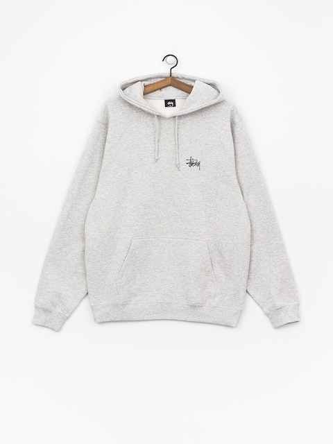 Bluza z kapturem Stussy Basic Stussy HD (ash heather)
