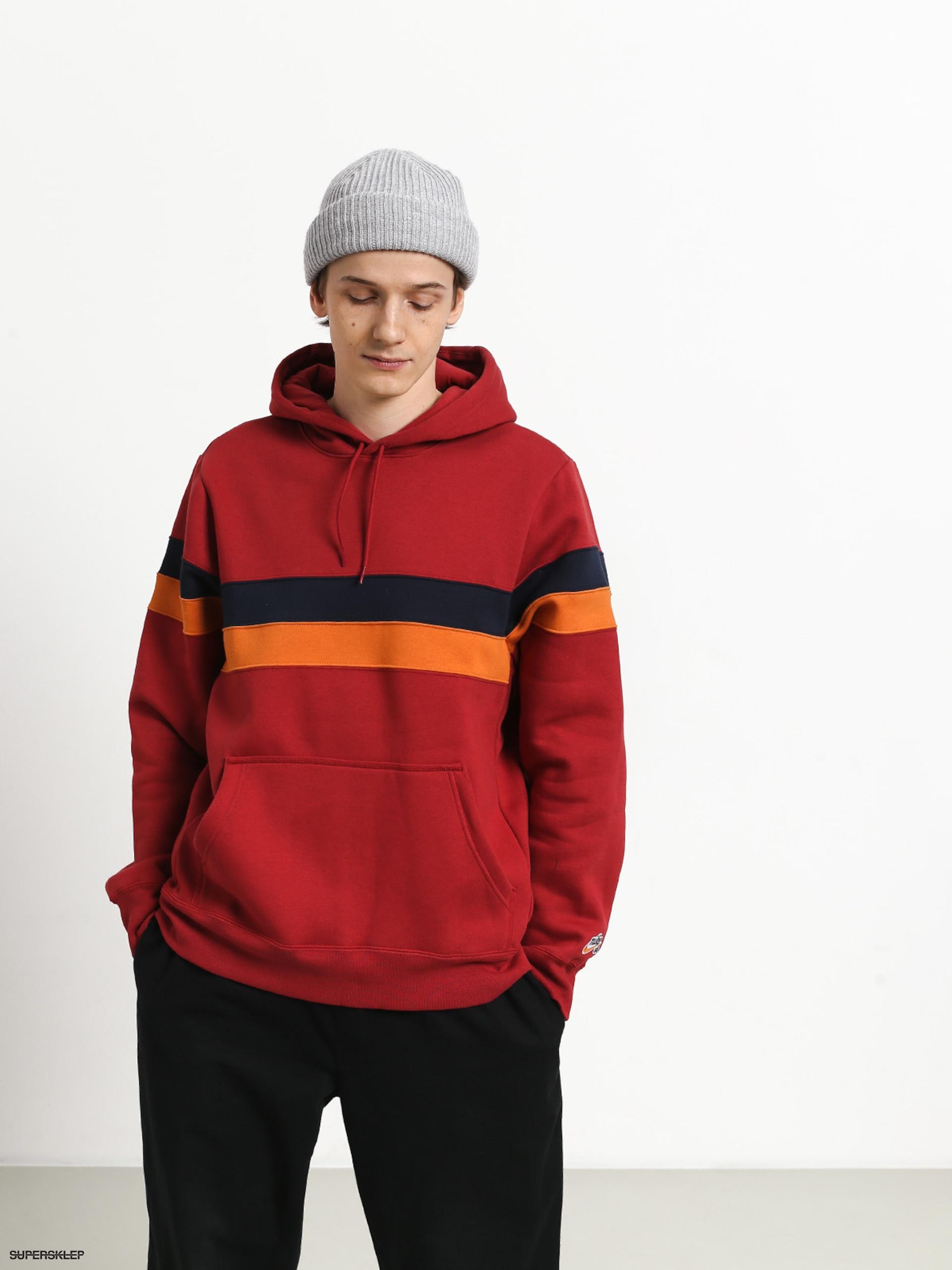 bluza nike sb icon pullover stripe men's hoodie team red