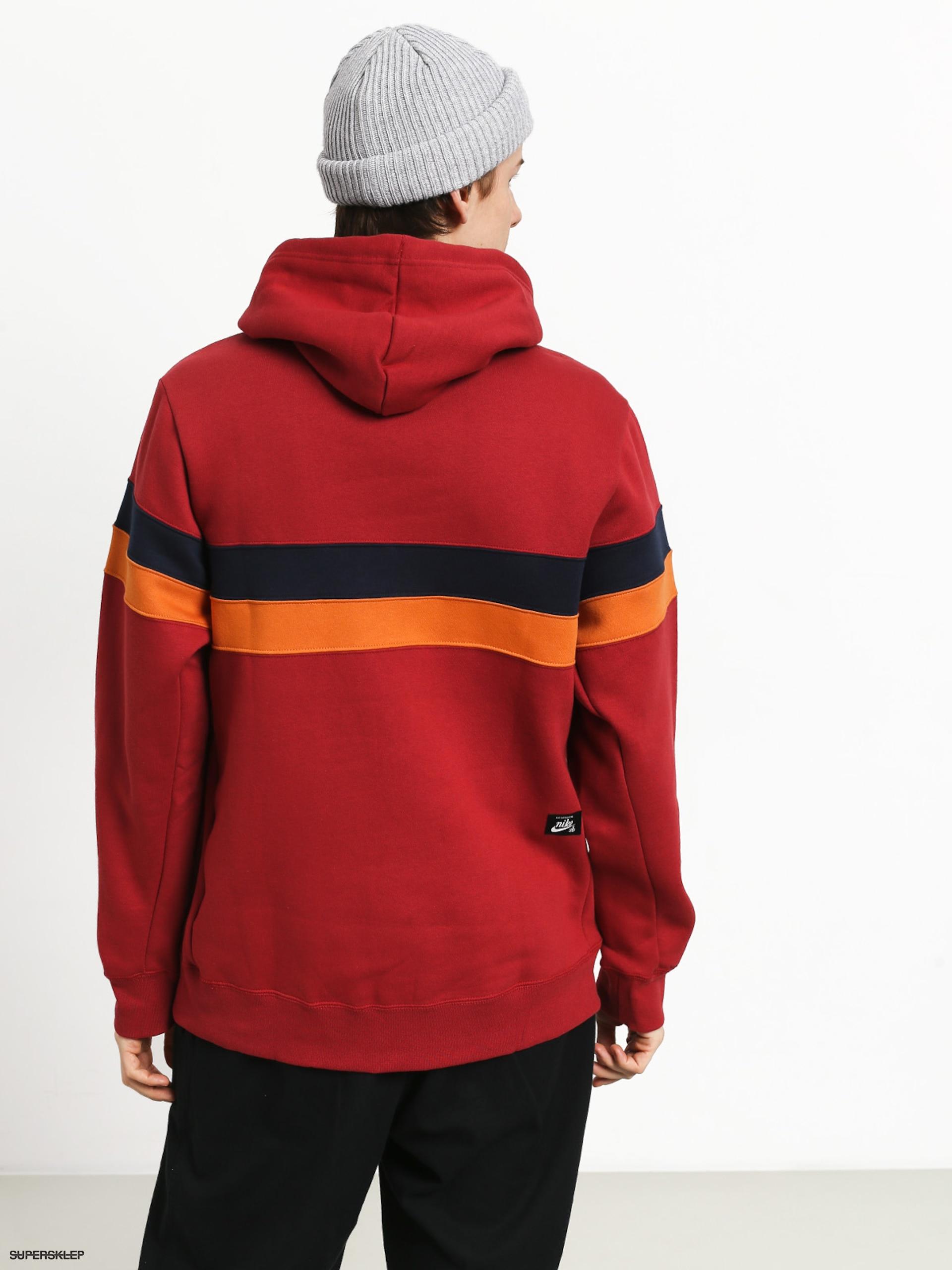 Bluza Nike sb Hoodie Icon Team Crimsonobsidiancinder
