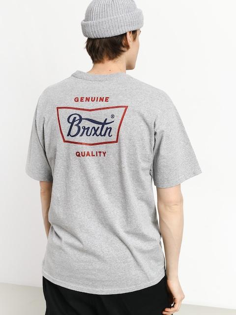 T-shirt Brixton Stith Stnd (heather grey/red/blue)