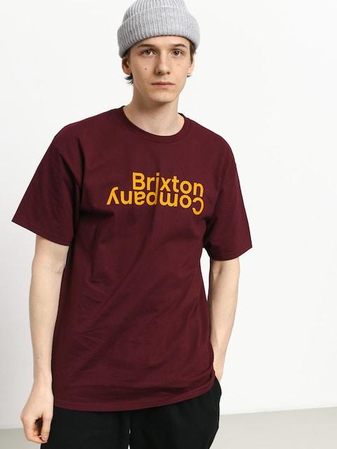 T-shirt Brixton Revert II Stt (burgundy)