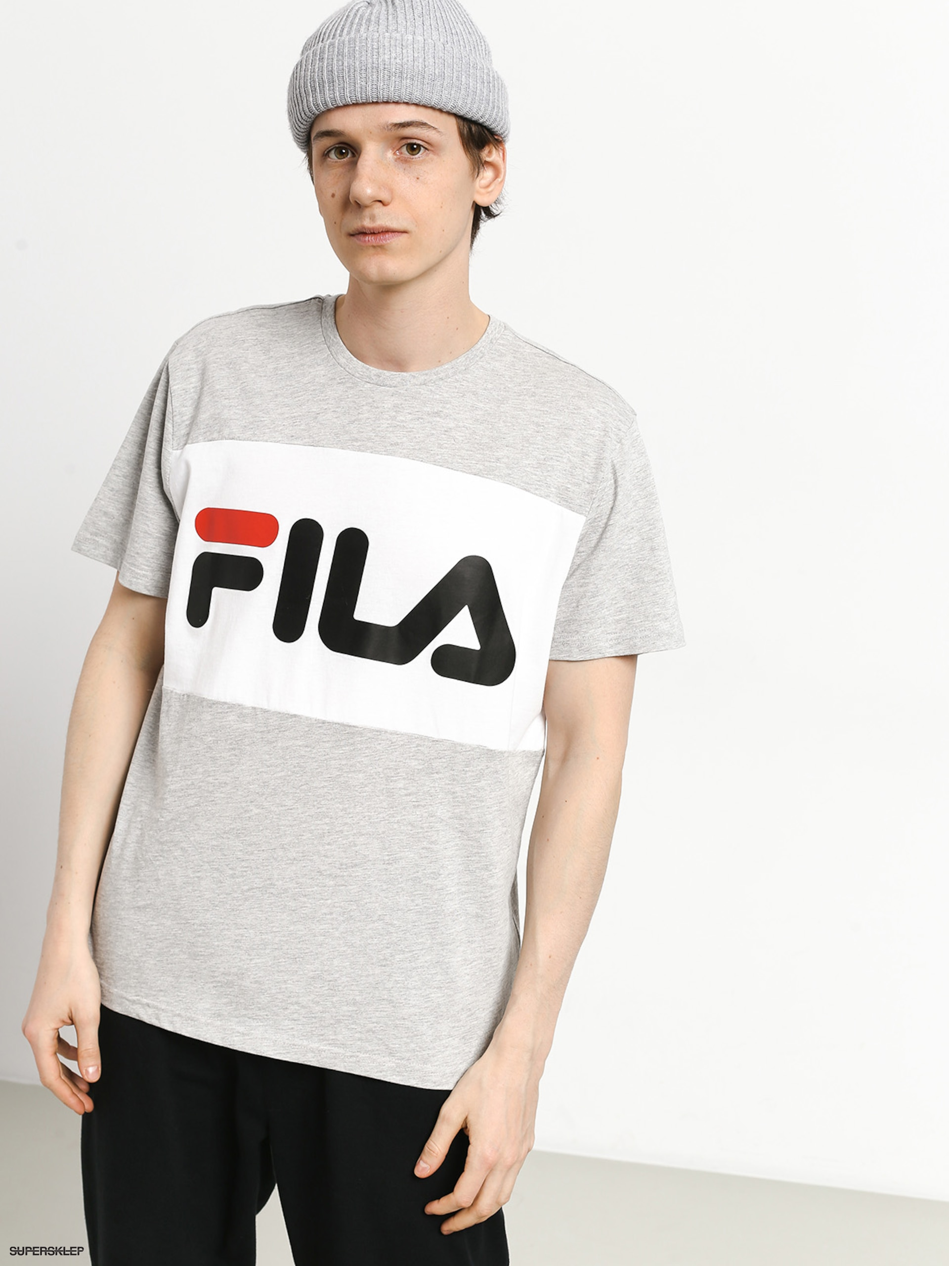 Koszulka FILA Day Tee Light Grey Melange