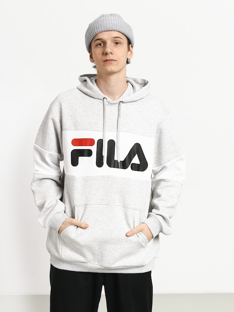 Bluza z kapturem Fila Night HD (light grey melange bros/bright white)