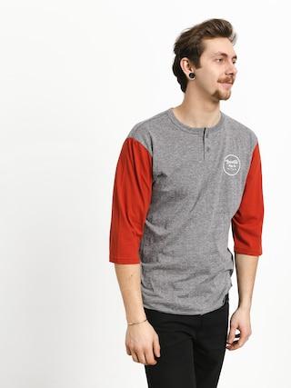 T-shirt Brixton Wheeler 3/4 Slv Hnly (heather grey/henna)