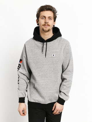 Bluza z kapturem Brixton Stowell Intl HD (heather grey/black)