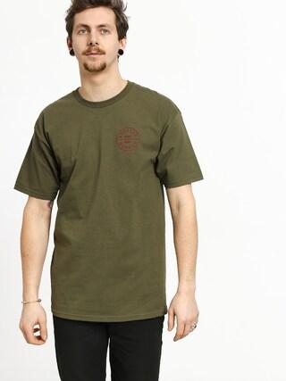 T-shirt Brixton Oath Stnd (olive/burgundy)