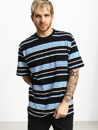 T-shirt Stussy Thomas Stripe Crew (black)