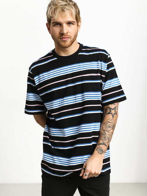 T-shirt Stussy Thomas Stripe Crew (black)