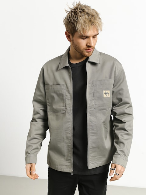 Kurtka Stussy Poly Cotton Zip Up (grey)