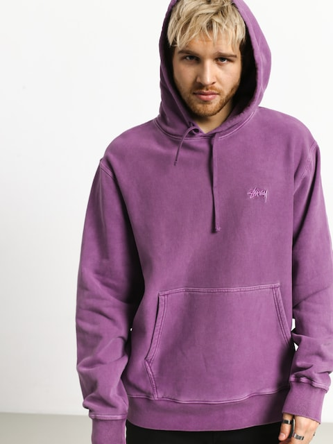 Bluza z kapturem Stussy Stock Logo HD (purple)
