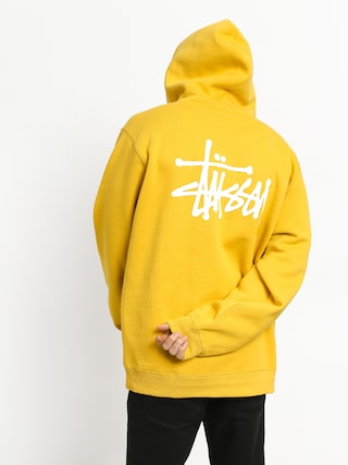 Bluza z kapturem Stussy Basic Stussy HD (yellow)