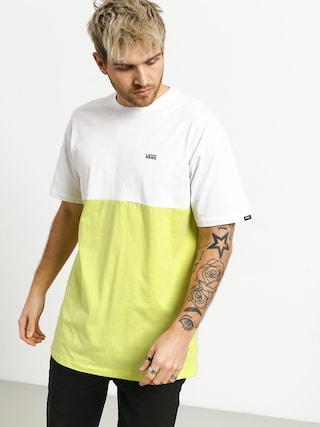 T-shirt Vans ColorBlock (white/sunny lime)