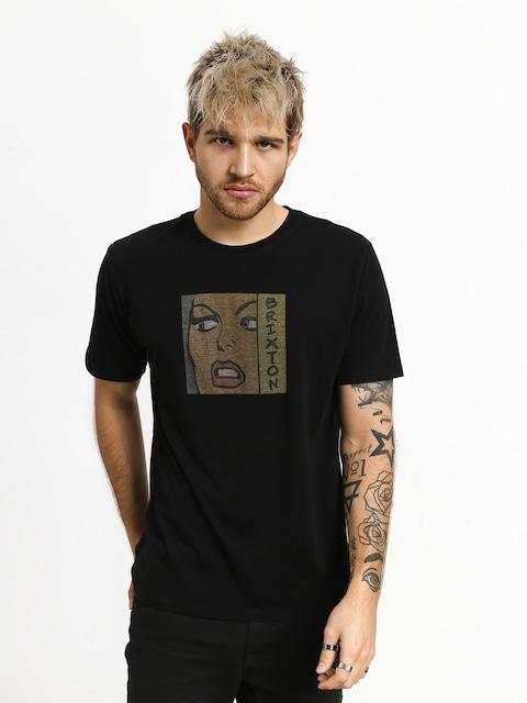T-shirt Brixton Damsel Prt (washed black)