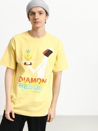 T-shirt Diamond Supply Co. Diamond Resort (banana)
