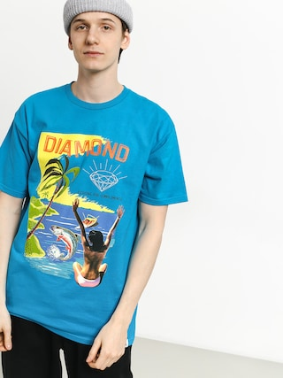 T-shirt Diamond Supply Co. Fishing For Compliments (turquoise)