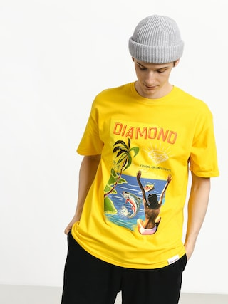 T-shirt Diamond Supply Co. Fishing For Compliments (yellow)