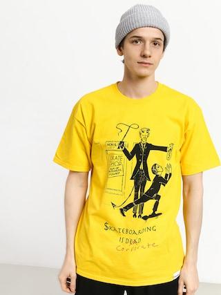 T-shirt Diamond Supply Co. Skate Crime (yellow)