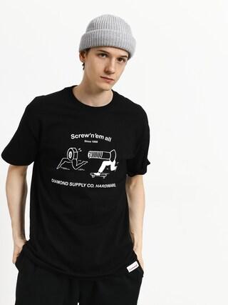 T-shirt Diamond Supply Co. Screw N Em All (black)