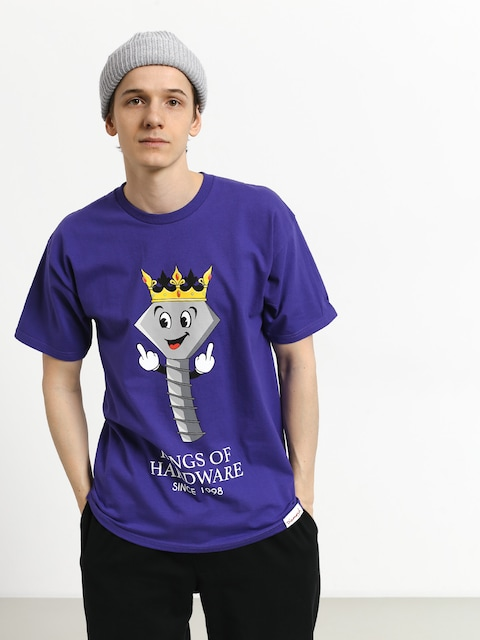 T-shirt Diamond Supply Co. King Of Hardware (purple)
