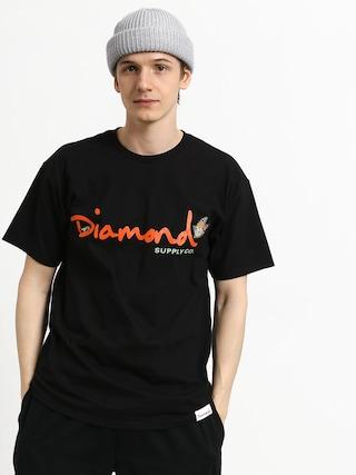 T-shirt Diamond Supply Co. Paradise Og Script (black)