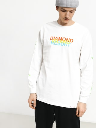 Longsleeve Diamond Supply Co. Diamond Resort (white)
