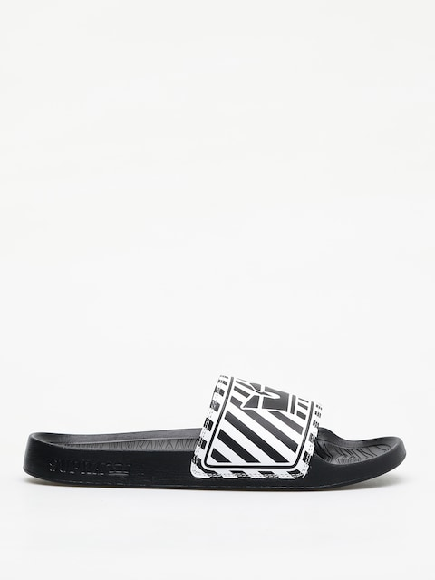 Klapki Supra Lockup (black/white stripe)