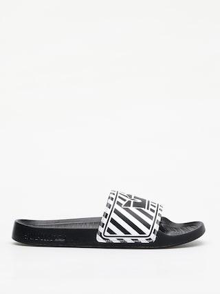 Klapki Supra Lockup (black/white stripe)
