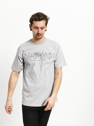 T-shirt Diamond Supply Co. Secrets Die (heather grey)