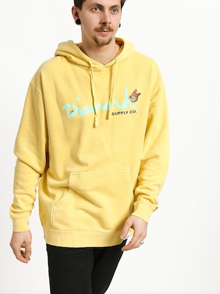 Bluza z kapturem Diamond Supply Co. Paradise Og Script HD (yellow)
