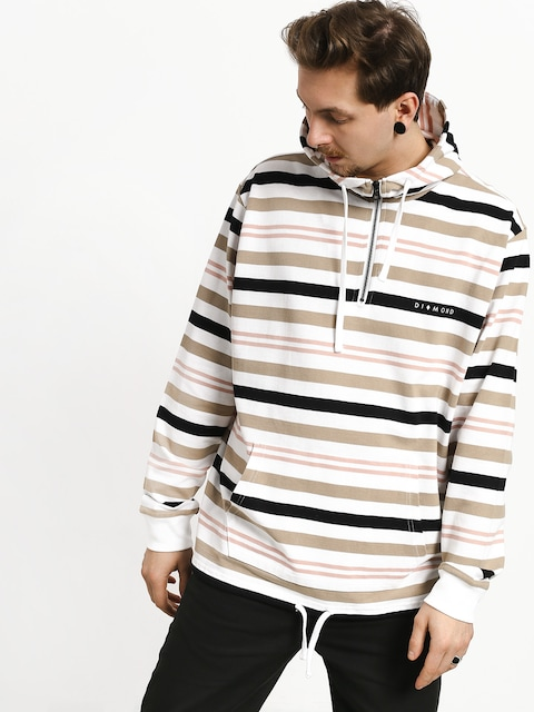 Bluza z kapturem Diamond Supply Co. Marquise Striped ZHD (white)