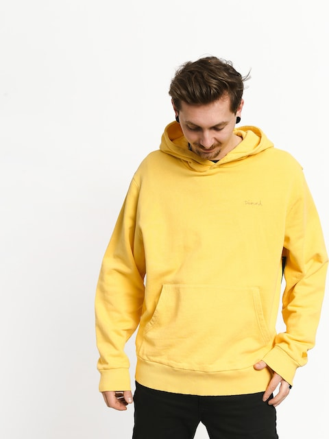 Bluza z kapturem Diamond Supply Co. Brilliant Overdyed Oversized HD (yellow)