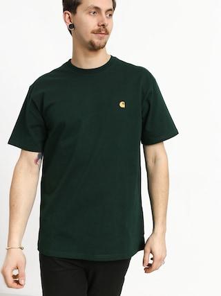 T-shirt Carhartt WIP Chase (bottle green/gold)