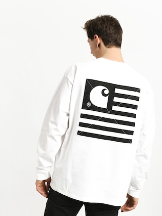 Longsleeve Carhartt WIP State Patch (white)