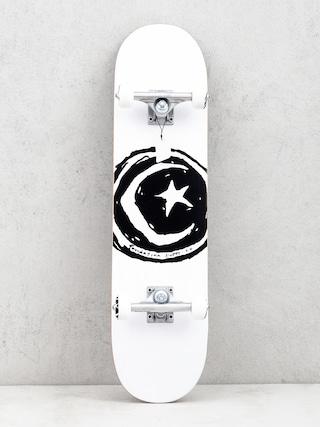 Deskorolka Foundation Star And Moon (white/black)