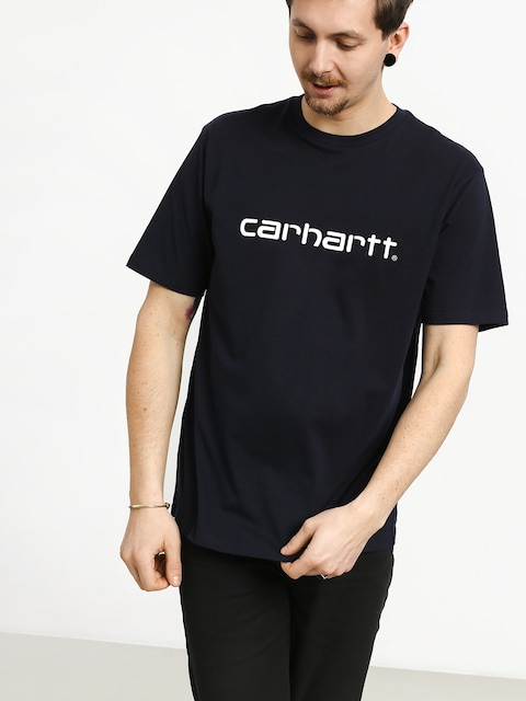 T-shirt Carhartt WIP Script (dark navy/white)