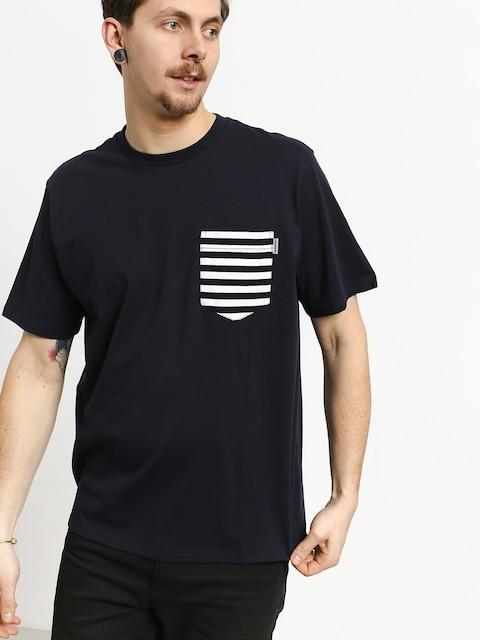 T-shirt Carhartt WIP Contrast Pocket (dark navy/barkley stripe dark navy/white)