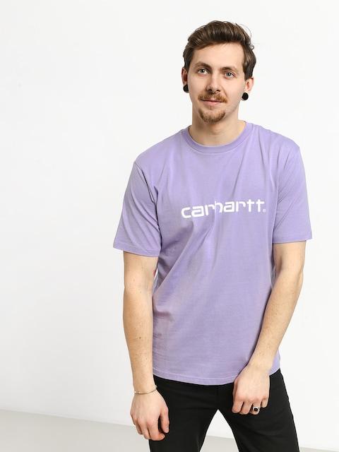 T-shirt Carhartt WIP Script (soft lavender/white)